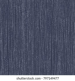 Seamless abstract striped distressed pattern, vertical vector illustration on dark blue background.