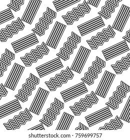 seamless abstract texture with zig zag lines decoration