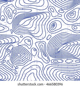 Seamless abstract topography map. Seamless pattern can be used for wallpaper, pattern fills, web page background,surface textures. Contour map with grunge texture. Easy to edit.