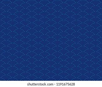 seamless abstract wave pattern-japanese pattern