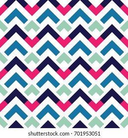 Seamless abstract zigzag geometric pattern. Vector illustration.