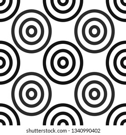 Seamless African Adinkra Pattern - black and white digital art ritual symbols and screen printing nations and tribes Akans of Ghana and Cote DIvoire. eps 10