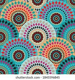 Seamless African Circles Design Pattern