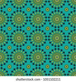 Seamless African circles pattern