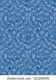Seamless All Over Patterning Floral Ornament Background Pattern
