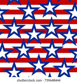 Seamless American pattern background.