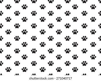 seamless animal footprint pattern