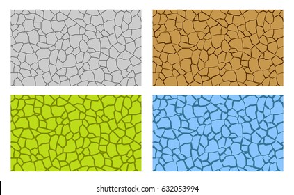 Seamless animal scale and crack pattern, vector