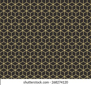 Seamless antique palette isometric cubes pattern vector