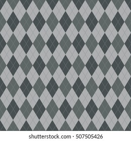 Seamless argyle pattern. Diamond shapes background. Vector illustration