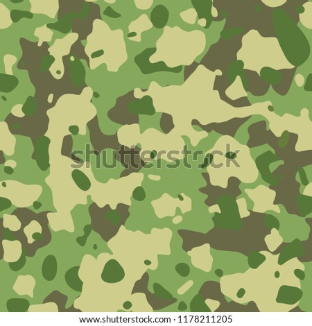 Seamless Army Camouflage Pattern Military Texture Stock Vector Extraordinary Army Pattern