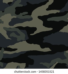Seamless Army Camouflage Pattern Vector. Military Camo Skin for Decor and Textile. Army masking design for hunting textile fabric printing and wallpaper.