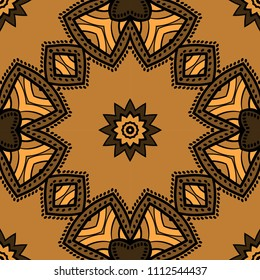 Seamless art deco floral pattern with modern style ornament on color background. For wallpaper, cover book, fabric, scrapbooks