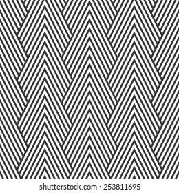 Seamless art deco optical chevron mountains pattern vector