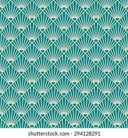 seamless art deco sunburst pattern.