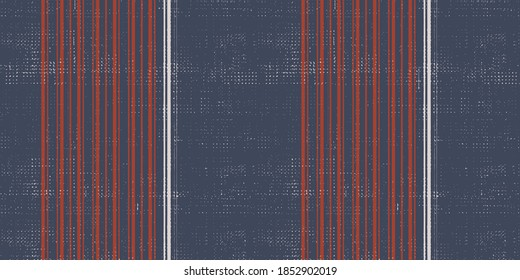Seamless art vintage vector  french stripe pattern. Provence  woven texture. Shabby chic style weave stitch background. . Textile rustic all over print