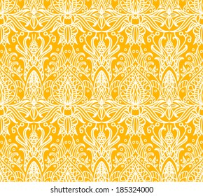 Seamless asian flower ornament. Good for print, fabric, background and home decorating