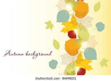 seamless autumn leafs