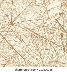 Seamless autumn leaves pattern. plus EPS10 vector file