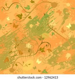 Seamless autumn texture, vector