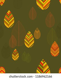 seamless autumn vector background