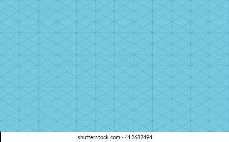 Seamless azure blue slim isometric rectangular grid pattern vector
