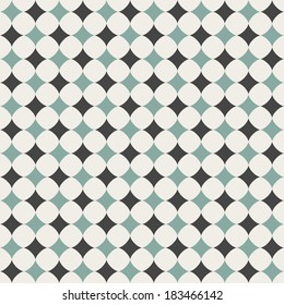 Seamless background. Abstract chess pattern wallpaper. Vector illustration. Green and grey color.EPS 10
