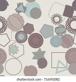 Seamless background abstract geometric mixed pattern for design. Vector illustration graphic.