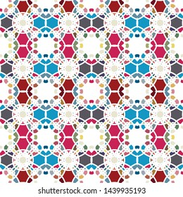 Seamless background with abstract geometric pattern