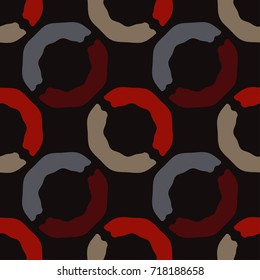 Seamless background with abstract geometric pattern. Textile rapport.