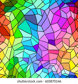Seamless background with abstract geometric shape. Stained-glass window. Hand draw illustration