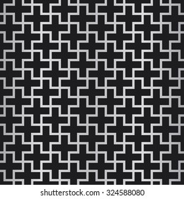 Seamless background. Abstract vector pattern. Cross pattern.