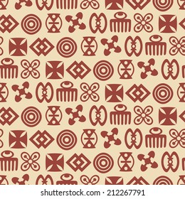 seamless background with adinkra symbols