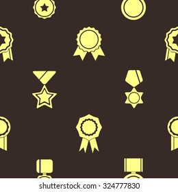 Seamless background with awards symbols for your design
