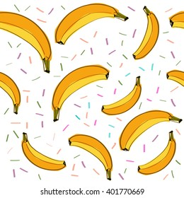 seamless background with bananas. Seamless vector pattern
