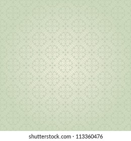 Seamless background baroque green
