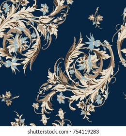 seamless background with baroque ornament