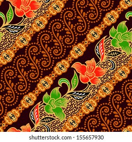 Seamless background  beautiful batik.