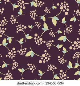 Seamless background with berries. Pattern.