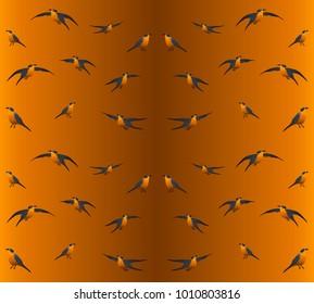 Seamless background. Birds.