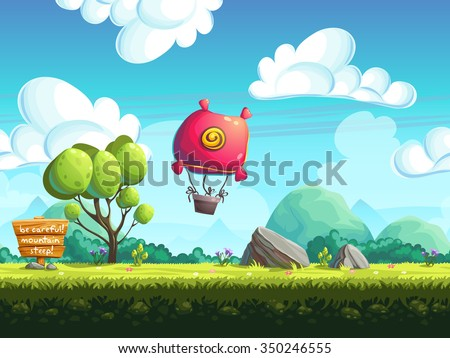 Seamless background blimp above
