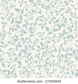 Seamless background of blue color in the style of baroque