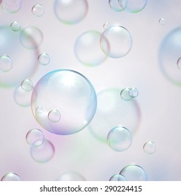 Seamless background with bubbles