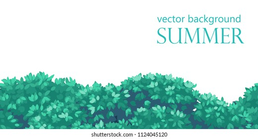 seamless background bush leaves, vector