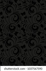 seamless background butterflies spirals pattern