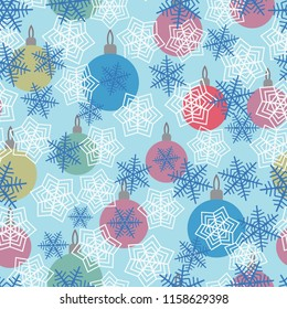 Seamless background with Christmas balls.