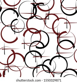 Seamless background with with circles and stripes. Grunge.