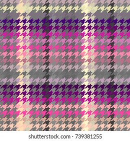 Seamless background. Classic Hounds-tooth pattern in abstract style.