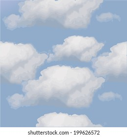 seamless background clouds. Vector