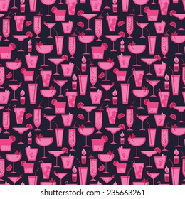 seamless background for cocktail party, vector illustration